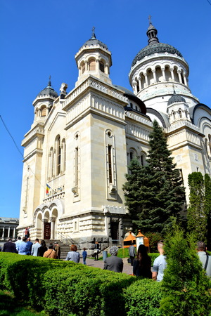 Orthodox cathedral in center of Cluj-Napoca, Transylvania