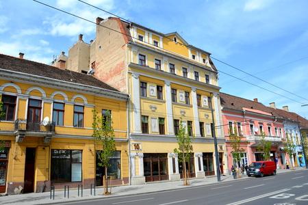 Typical urban landscape in Cluj-Napoca, Transylvania