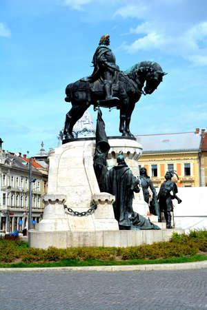 Statue of Matei Corvin in Cluj-Napoca, Transylvania