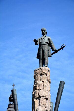 Statue of Avram Iancu, in Cluj-Napoca, Transylvania