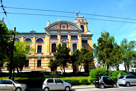 babes: Typical building in the center of Cluj-Napoca