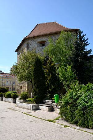 Tower of the old medieval town in Cluj-Napoca Editorial