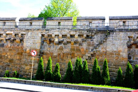 Walls of the old medieval town in Cluj-Napoca Editorial