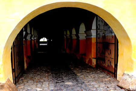 cetatuia: Entrance in the fortified church Harman (Honigburg), Transylvania Editorial