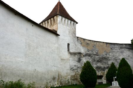 cetatuia: Walls of the fortified church Harman (Honigburg), Transylvania Stock Photo