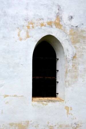 cetatuia: Windows in the fortified church Harman (honigburg) Transylvania