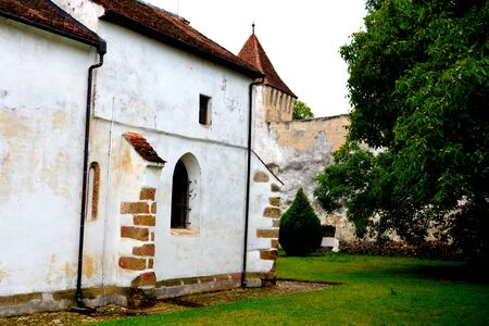 holliday: Courtyard of the fortified church Harman, Transylvania