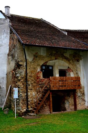 Inside the fortified church Harman, Transylvania Stock Photo