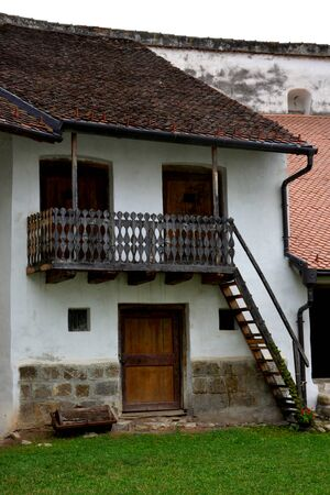 holliday: Inside the fortified church Harman, Transylvania Stock Photo