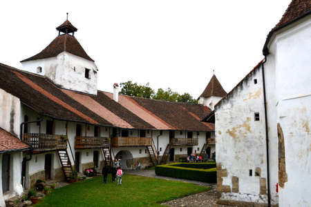 cetatuia: Inside the fortified church Harman, Transylvania Editorial