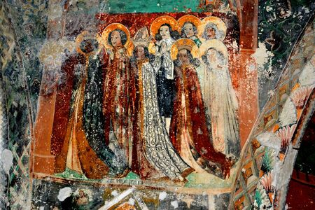 cetatuia: Unusual icons in an evanghelic church, Harman, Transylvania