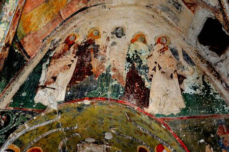 cetatuia: Unusual icon on the wall of the fortified evanghelic church, Harman, Transylvania