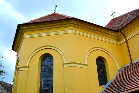 fortified: Medieval fortified church Cristian, Transylvania