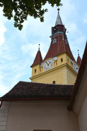 Fortified saxon church Cristian, Transylvania Stock Photo