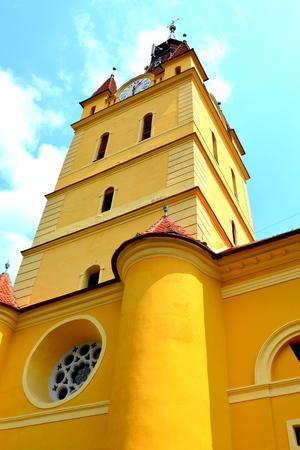 fortified: Fortified saxon church in Cristian,  Transylvania Stock Photo
