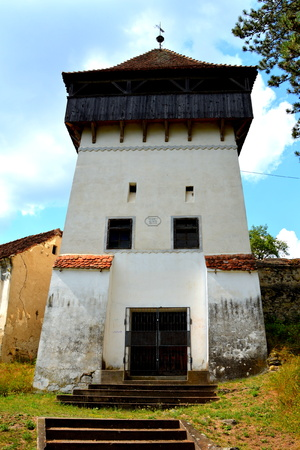 Fortified medieval church in Ungra, Transylvania
