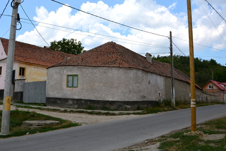burg: Landscape in the village Ungra, Transylvania