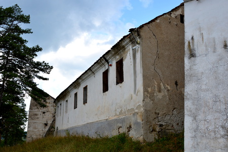 fortified: Fortified medieval church in Ungra, Transylvania