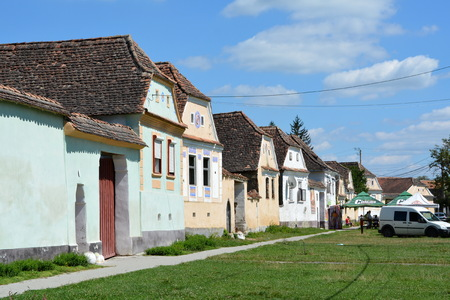 fortified: Typical houses in the village Crit, Transylvania