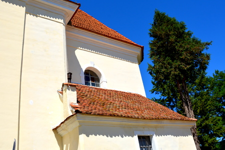 suggestive: Medieval fortified church in the village Crit, Transylvania