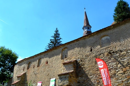 Medieval fortified church in the village Crit, Transylvania
