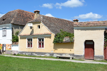 burg: Old houses in the village Crit, Transylvania Stock Photo