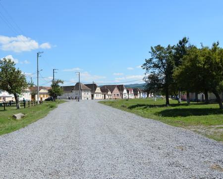 transylvania: landscape in the village Crit, Transylvania