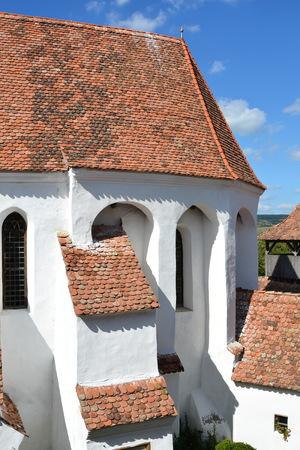 burg: Fortified medieval church in village Biertan, Transylvania