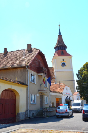 bod: Fortified medieval church in Bod, Transylvania Editorial