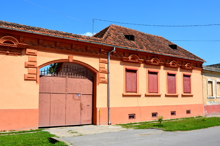 fortified: Typical house in the village Bod, Transylvania