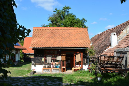 suggestive: Store in typical house in the village Viscri, Transylvania