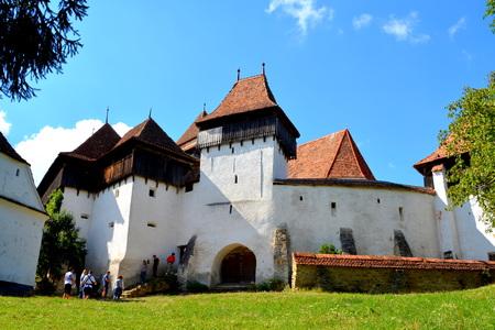 arhitecture: Fortified medieval church in village Viscri, Transylvania