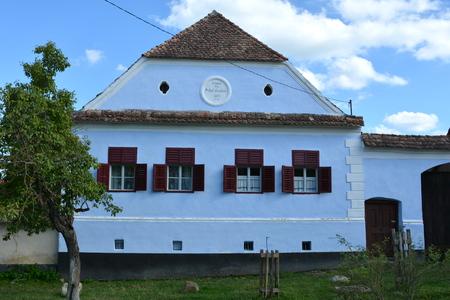 Typical house in the village Viscri, Transylvania