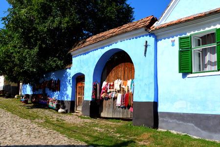 transylvania: Landscape in the village Viscri, Transylvania Stock Photo