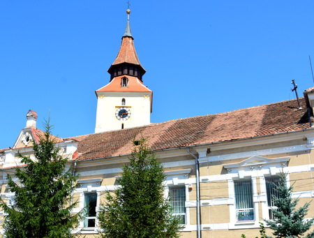 Medieval fortified church in the village Bod, Transylvania