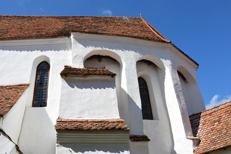 fortified: Fortified medieval church in village Viscri, Transylvania