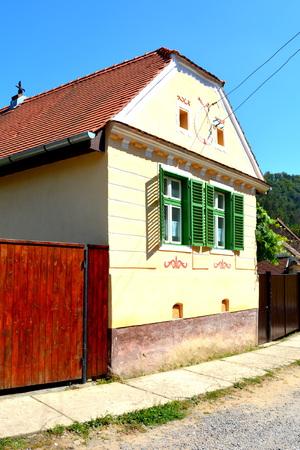 transylvania: Typical house in the village Malancrav, Transylvania