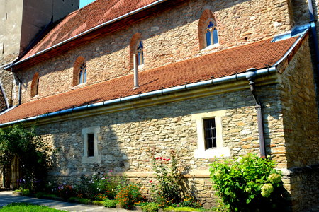 transylvania: Icons in the fortified saxon church in the village Malancrav, Transylvania Stock Photo