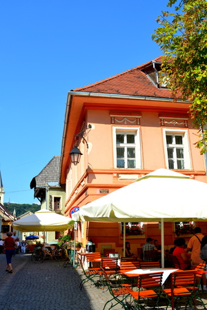Square of the medieval town Sighisoara