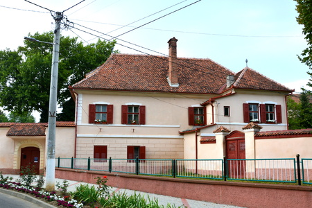 transylvania: Typical house in the village Cristian, Transylvania