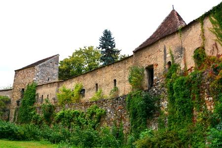 fortified: Courtyard of the fortified saxon church Cristian, Transylvania