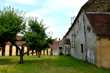 Fortified medieval church in the village Codlea, Transylvania