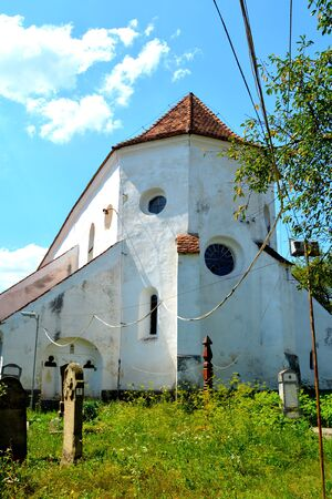 Old saxon evanghelic church in Halmeag Transylvania. In Transylvania there are many saxon churches. This church is 800 years old.