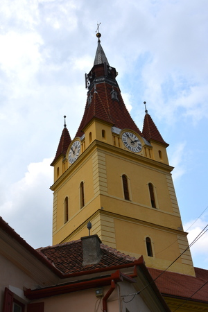 Fortified medieval church in Cristian. The town was first mentioned in a letter written in 1420 by King Sigismund of Luxembourg. The local church and the bell tower were built around 1300. In the 15th century a fortress was built around the church.