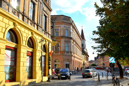 Typical urban landscape in Sibiu, one of the most important cultural centres of Romania and was designated the European Capital of Culture for the year 2007, along with the city of Luxembourg.