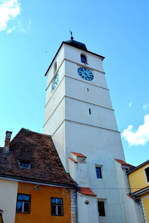 Tower in Market square. Sibiu is one of the most important cultural centres of Romania and was designated the European Capital of Culture for the year 2007, along with the city of Luxembourg.