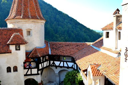 Bran castle, home of Dracula, Brasov, Transylvania. The medieval Bran Castle, which was once besieged by Vlad the Impaler, is a popular tourist destination, partly because it resembles the home of Dracula in Bram Stoker s famous novel.