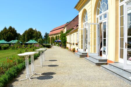 Orangerie in the Park of Baron von Brukenthal Palace in Avrig, Transylvania. In Avrig there are a collection of historical monuments.Centuries XI - XVI. Editorial