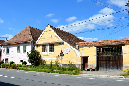 charles: Typical houses in the village Viscri.