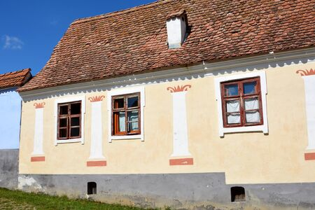 in monastery: Typical house in the village Viscri